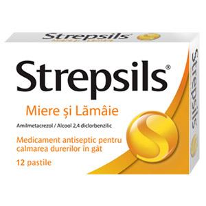 Prospect Strepsils Miere Şl Lamaie, pastile