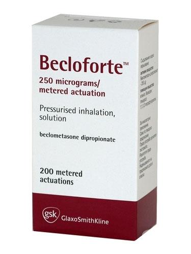 Prospect BECLOFORTE - aerosol astm bronsic
