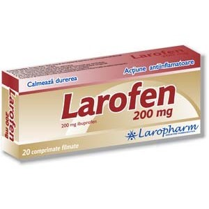 Prospect Larofen pentru copii - Antiinflamator Inflamatie Febra