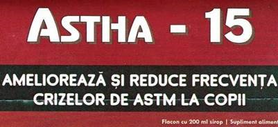 Prospect Astha – 15 – Astm Bronsic Bronhodilatator