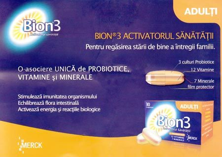 Prospect Bion 3 Adulti - Probiotic cu Vitamine