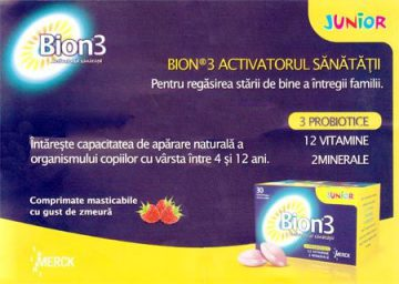 Bion 3 pentru copii in scopul intaririi sistemului imunitar