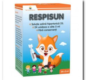 RespiSun solutie salina pentru igiena nazala a copiilor