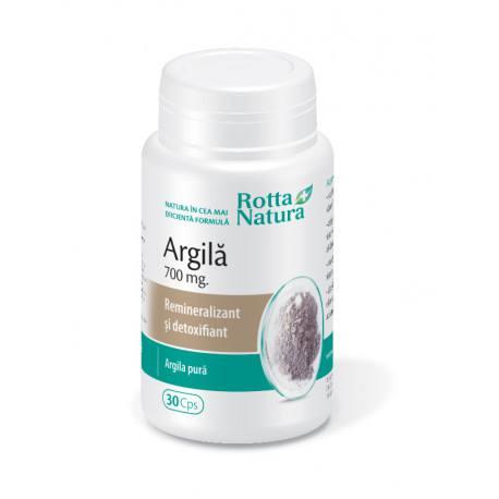 argila 700 mg 30 capsule rotta natura - Beneficiile Argilei supliment alimentar