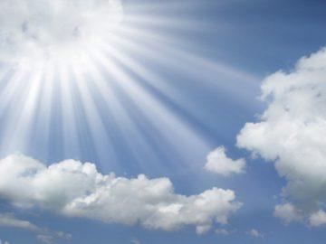 Razele soarelui binefacatoare de minuni