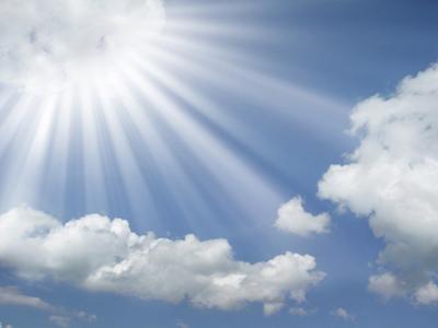 Razele soarelui sunt aur de la Dumnezeu
